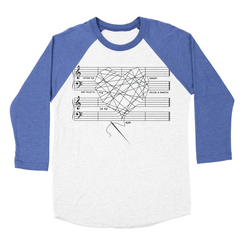 Cross My Heart and Hope... Men's Baseball Triblend Longsleeve T-Shirt by zomboy's Artist Shop
