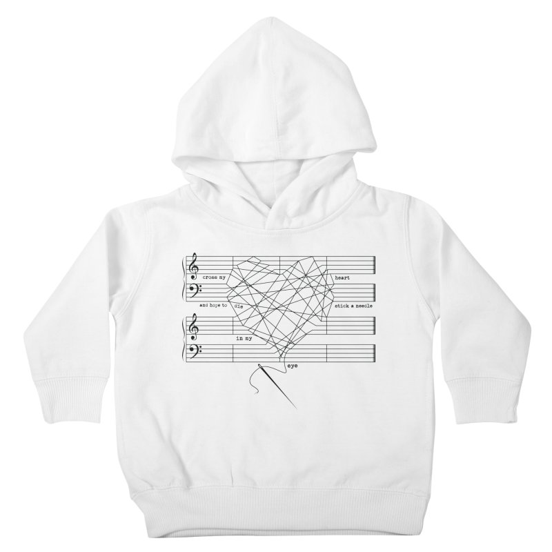 Cross My Heart and Hope... Kids Toddler Pullover Hoody by zomboy's Artist Shop