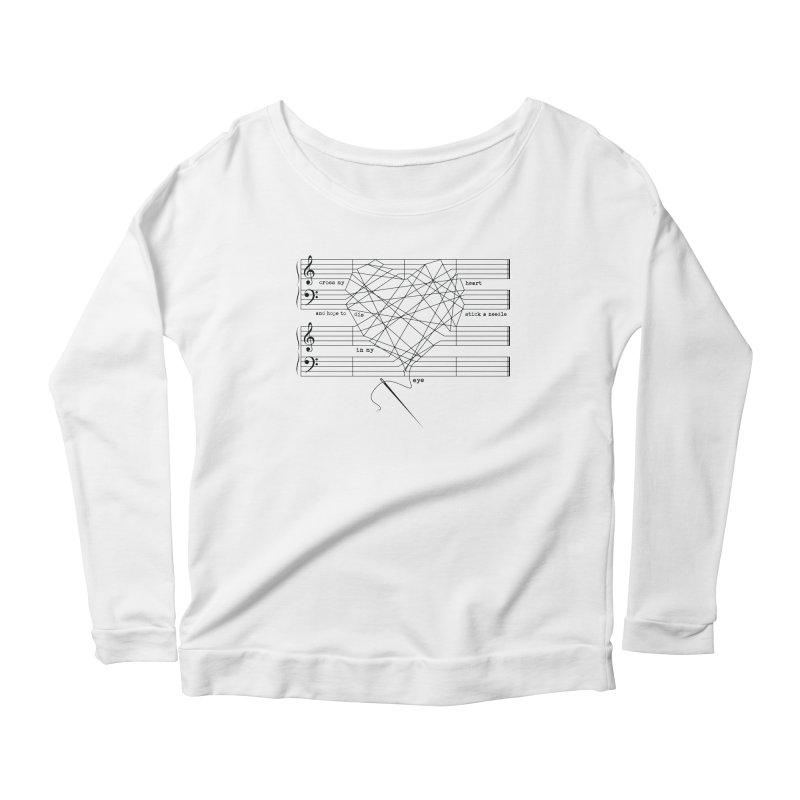 Cross My Heart and Hope... Women's Scoop Neck Longsleeve T-Shirt by zomboy's Artist Shop