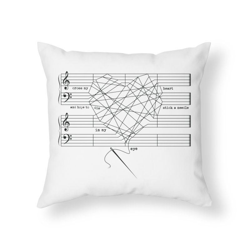 Cross My Heart and Hope... Home Throw Pillow by zomboy's Artist Shop