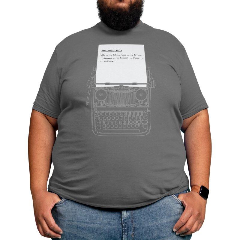Unlike Unlove Uncomment Unshare Men's T-Shirt by Zomboy Arts