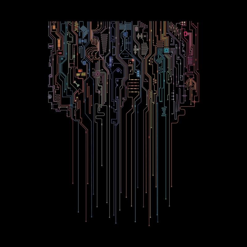 Virtual Psychedelic Rain Men's T-Shirt by Zomboy Arts