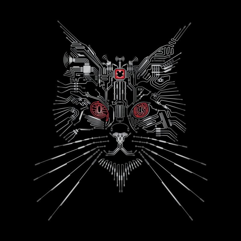 Cyber Hacker Cat Men's T-Shirt by Zomboy Arts