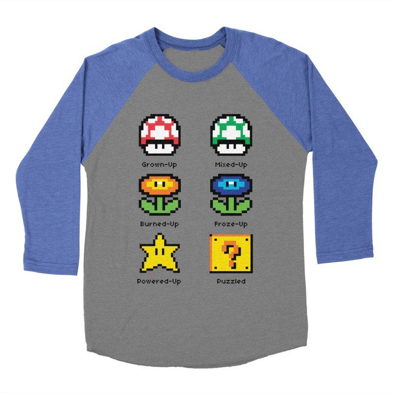 8-Bit Feelings Men's Baseball Triblend T-Shirt by zone31designs's Artist Shop