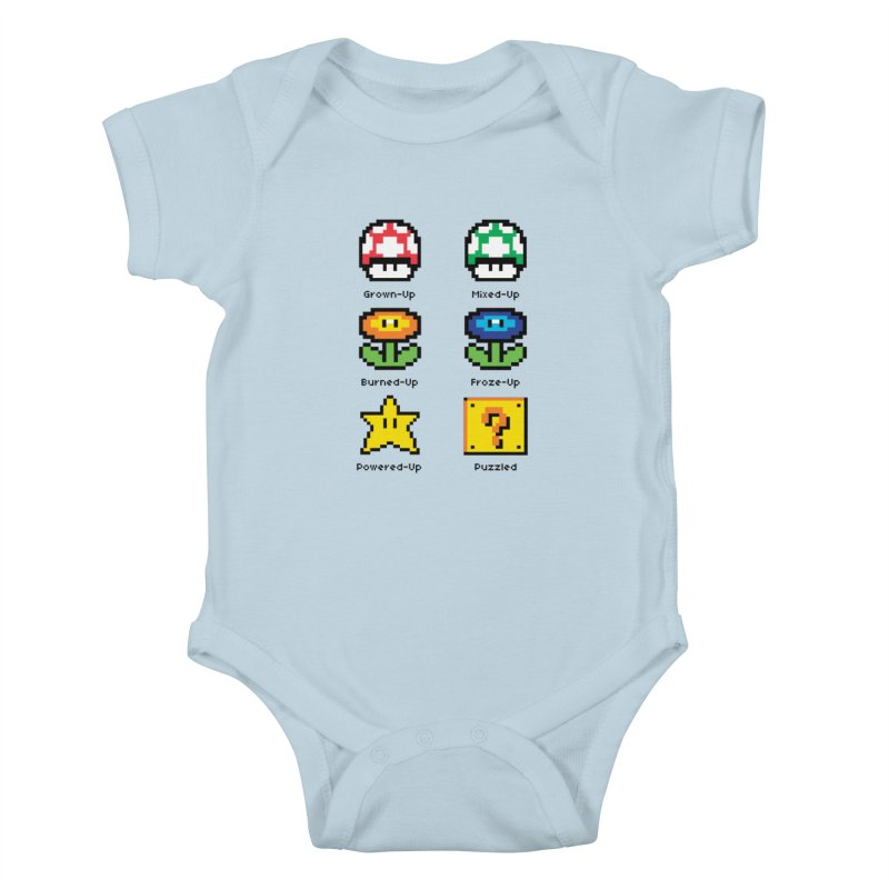 8-Bit Feelings Kids Baby Bodysuit by zone31designs's Artist Shop
