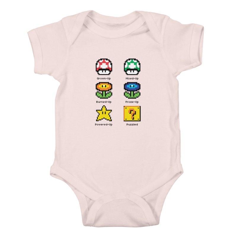 8-Bit Feelings Kids Baby Bodysuit by zone31designs's Artist Shop