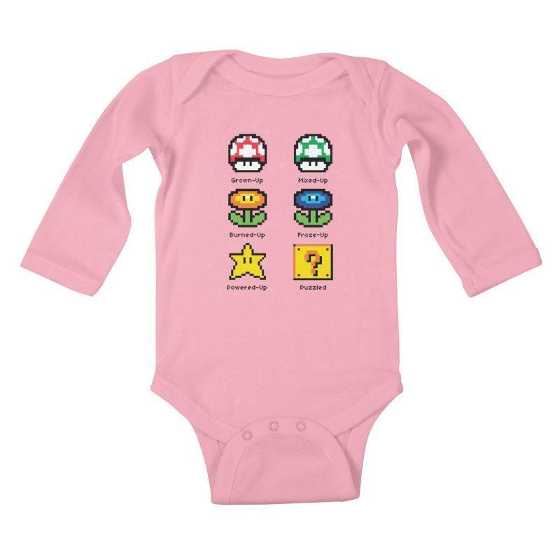 8-Bit Feelings Kids Baby Longsleeve Bodysuit by zone31designs's Artist Shop