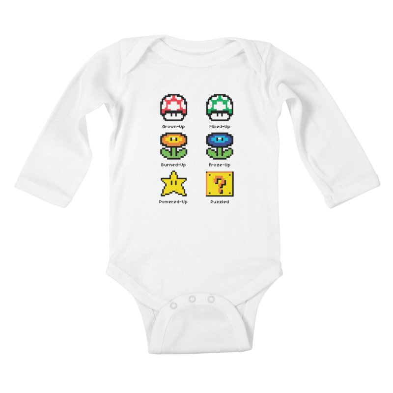 8-Bit Feelings Kids Baby Longsleeve Bodysuit by zone31designs's Artist Shop
