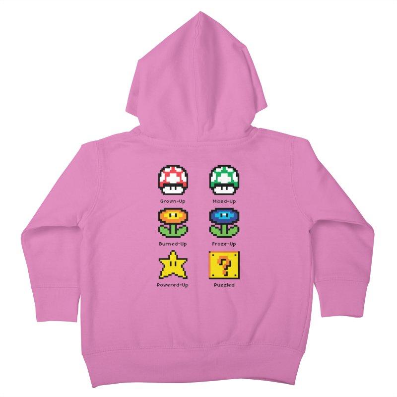 8-Bit Feelings Kids Toddler Zip-Up Hoody by zone31designs's Artist Shop