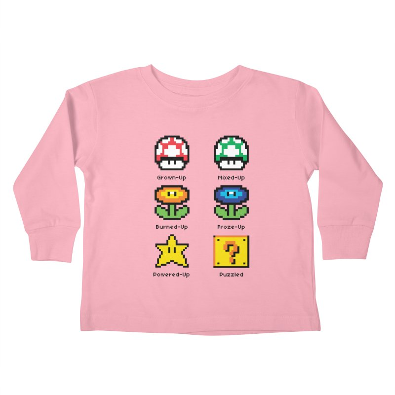 8-Bit Feelings Kids Toddler Longsleeve T-Shirt by zone31designs's Artist Shop