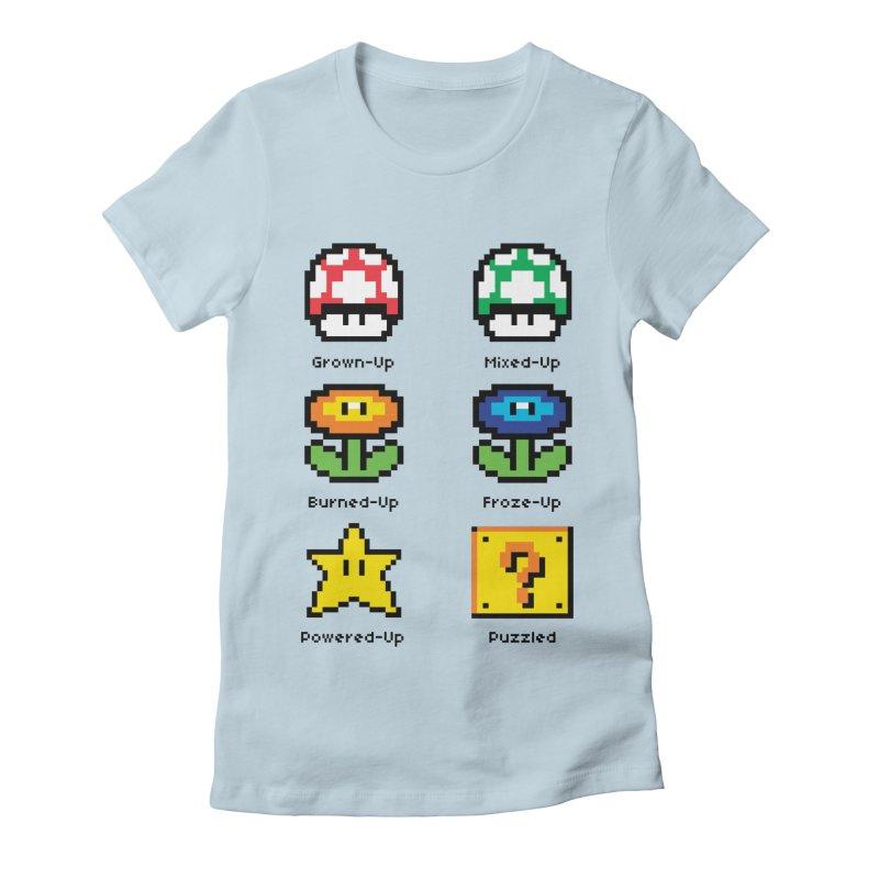 8-Bit Feelings Women's Fitted T-Shirt by zone31designs's Artist Shop