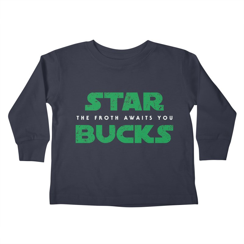 The Froth Awaits You  Kids Toddler Longsleeve T-Shirt by zone31designs's Artist Shop