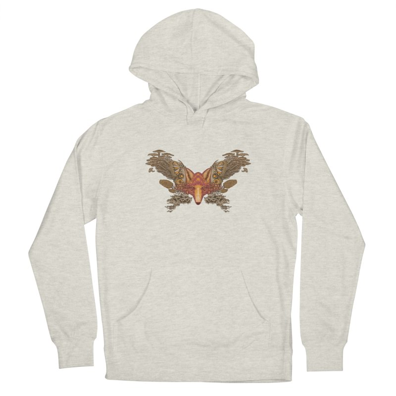 Fox fungi Women's French Terry Pullover Hoody by zonka's Artist Shop