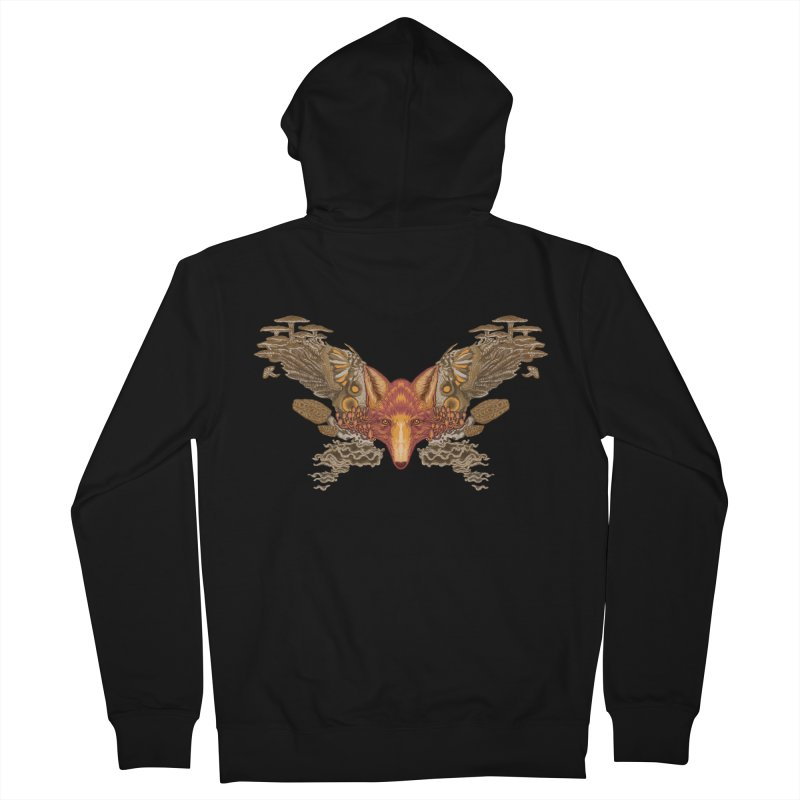 Fox fungi Women's Zip-Up Hoody by Aaron Zonka's Artist Shop