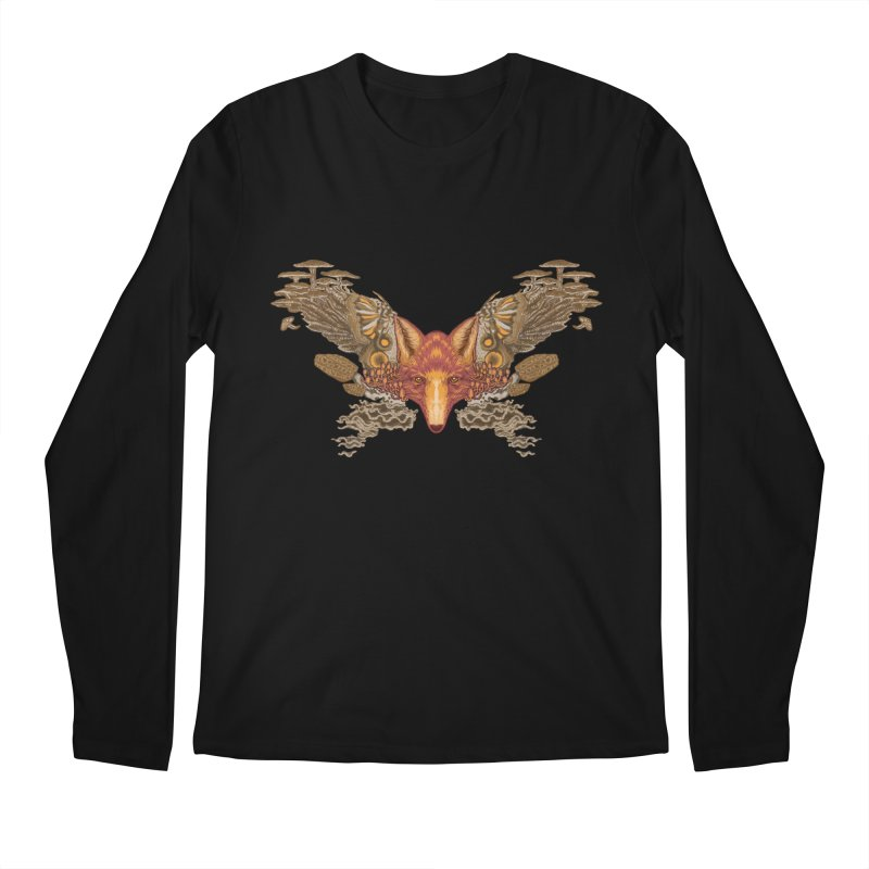 Fox fungi Men's Longsleeve T-Shirt by zonka's Artist Shop