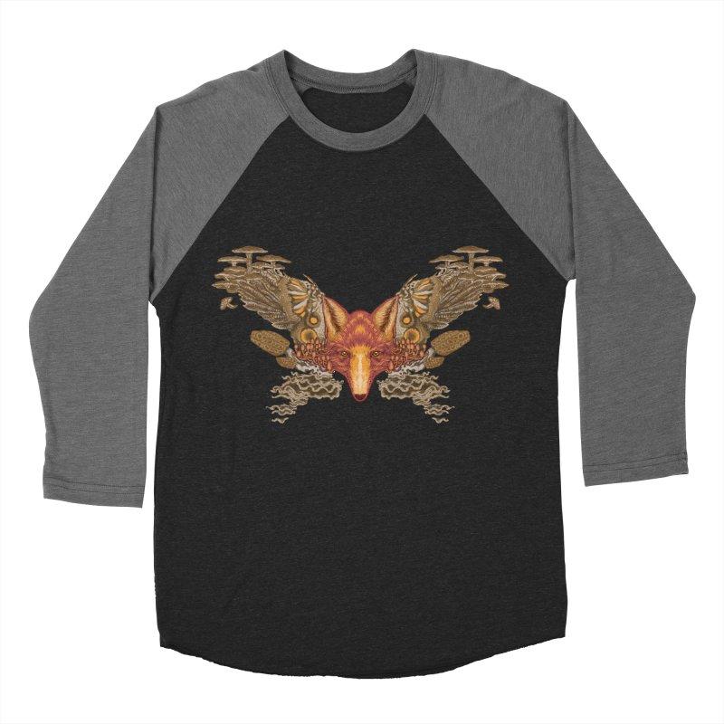 Fox fungi Men's Baseball Triblend T-Shirt by zonka's Artist Shop
