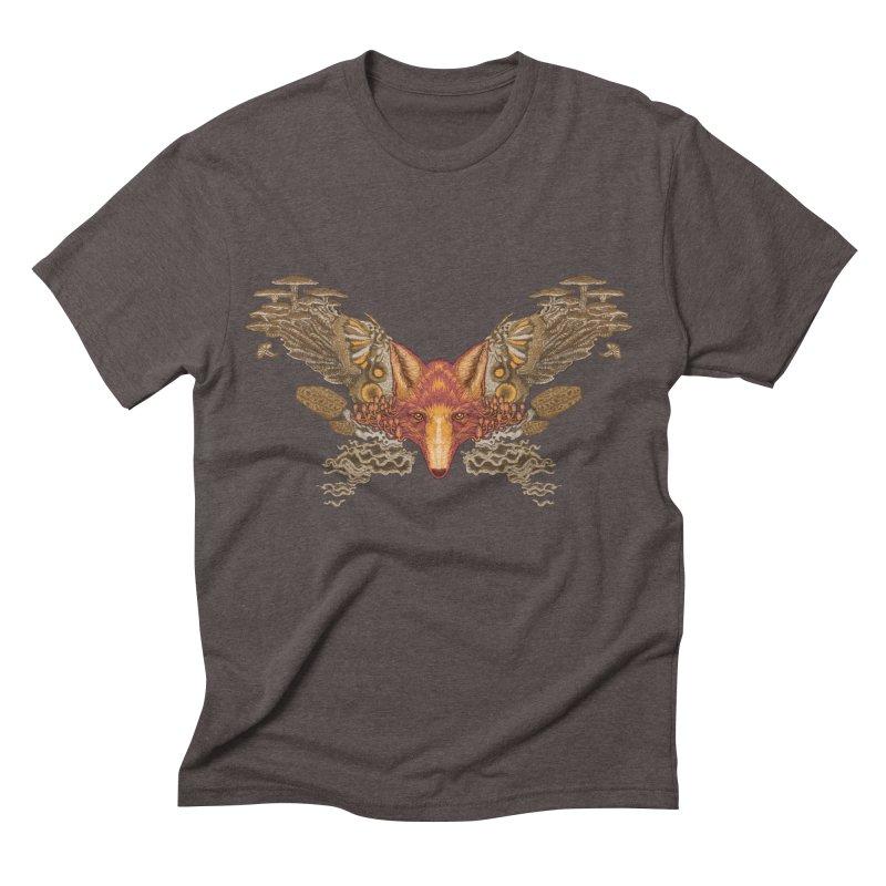 Fox fungi Men's Triblend T-shirt by zonka's Artist Shop