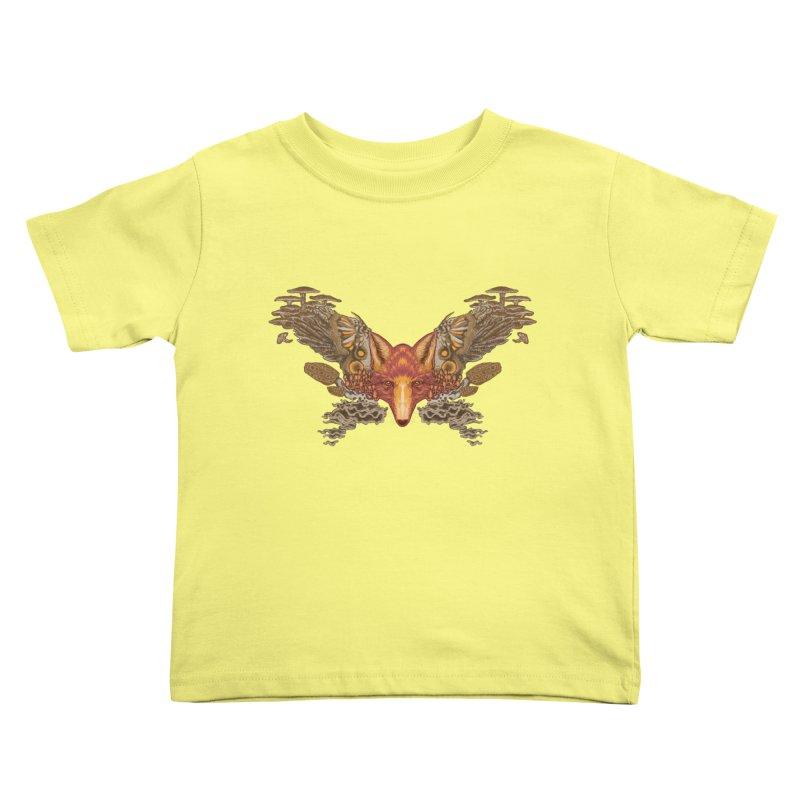 Fox fungi Kids Toddler T-Shirt by zonka's Artist Shop