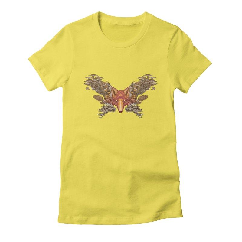 Fox fungi Women's T-Shirt by Aaron Zonka's Artist Shop