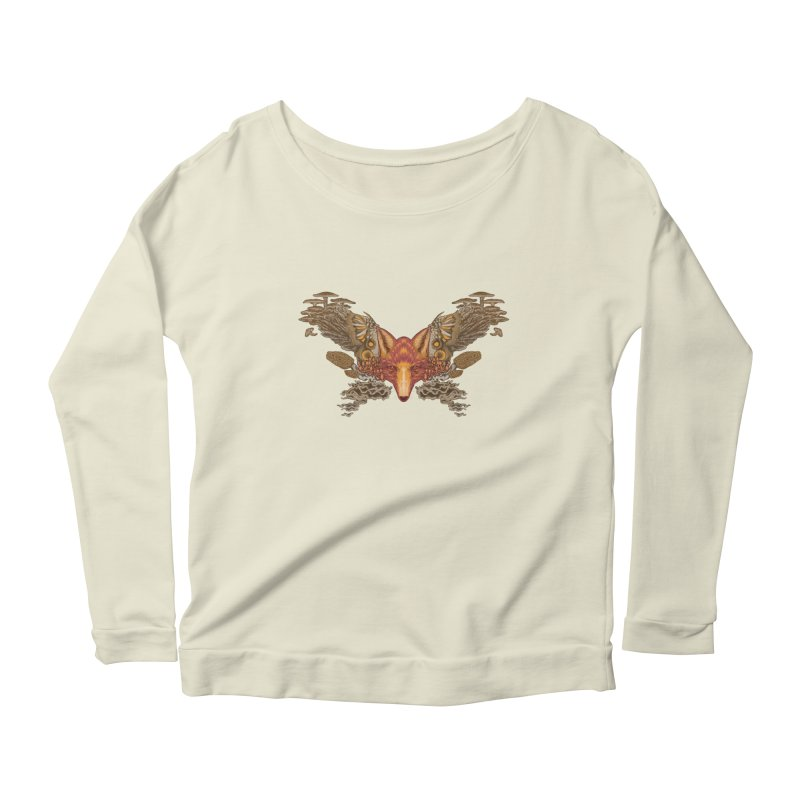 Fox fungi Women's Scoop Neck Longsleeve T-Shirt by zonka's Artist Shop