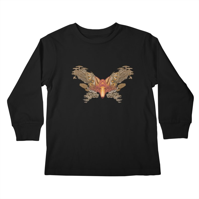 Fox fungi Kids Longsleeve T-Shirt by zonka's Artist Shop