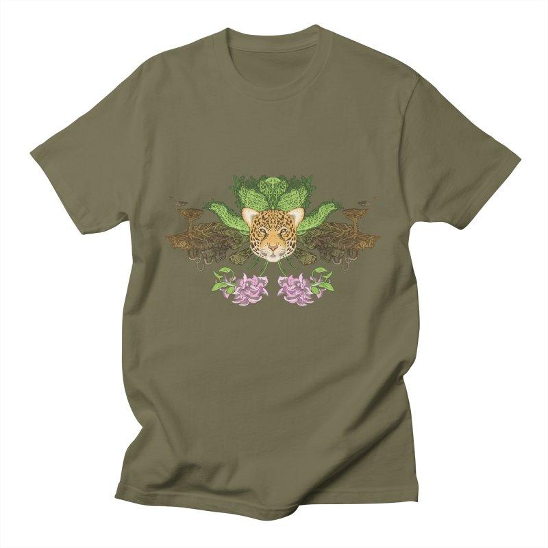 Jaguar flower Men's T-Shirt by Aaron Zonka's Artist Shop