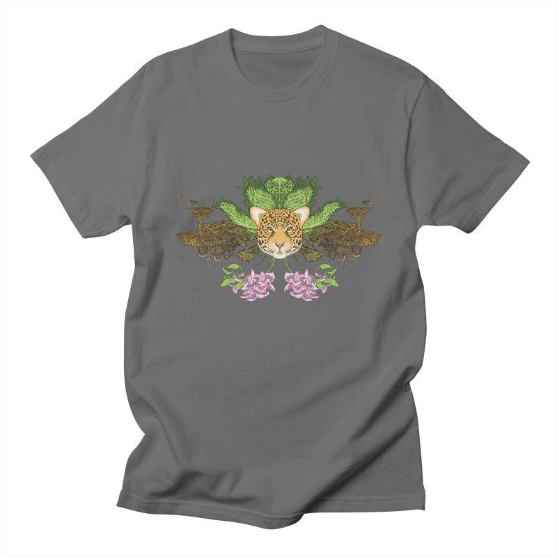 Jaguar flower Men's T-Shirt by zonka's Artist Shop