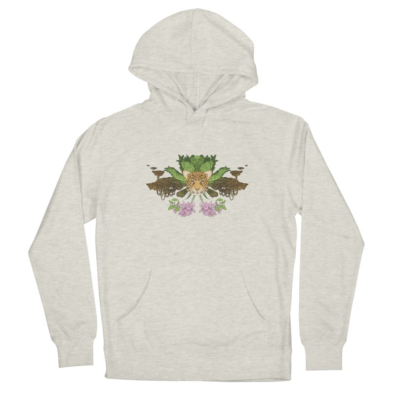 Jaguar flower Men's French Terry Pullover Hoody by zonka's Artist Shop