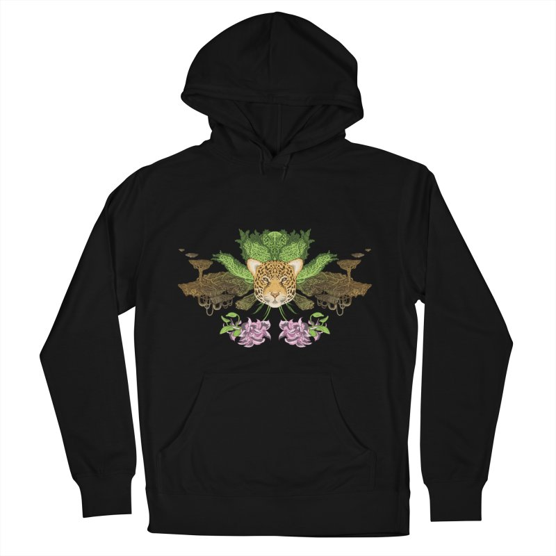 Jaguar flower Men's Pullover Hoody by zonka's Artist Shop