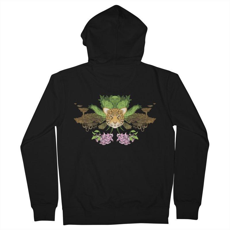 Jaguar flower Men's Zip-Up Hoody by zonka's Artist Shop
