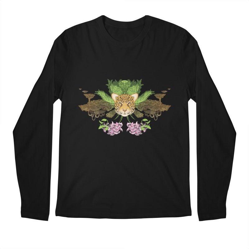 Jaguar flower Men's Longsleeve T-Shirt by Aaron Zonka's Artist Shop
