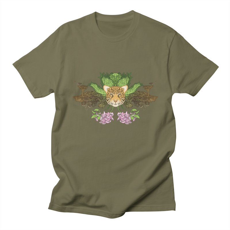 Jaguar flower Women's Regular Unisex T-Shirt by zonka's Artist Shop