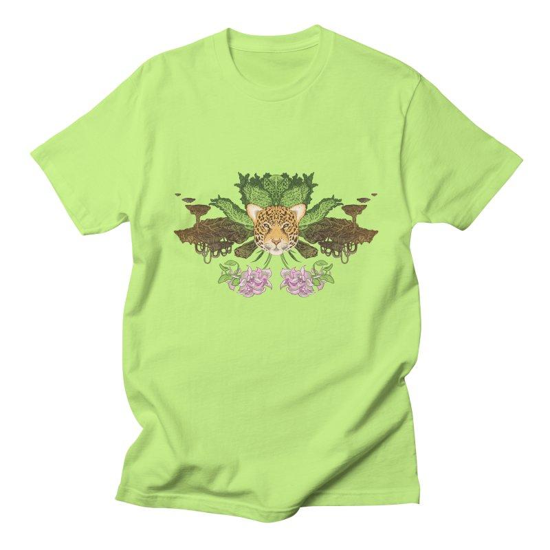 Jaguar flower Men's Regular T-Shirt by zonka's Artist Shop