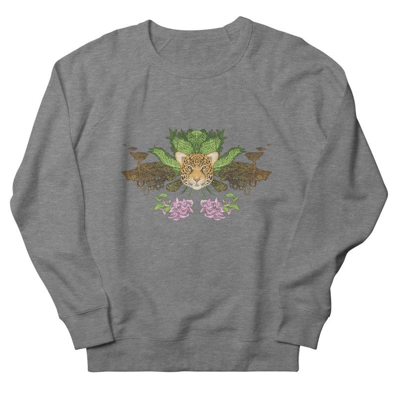 Jaguar flower Men's French Terry Sweatshirt by zonka's Artist Shop