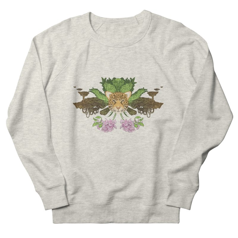 Jaguar flower Men's Sweatshirt by zonka's Artist Shop