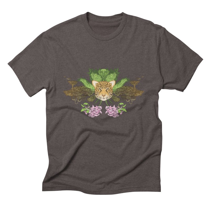Jaguar flower Men's Triblend T-Shirt by zonka's Artist Shop