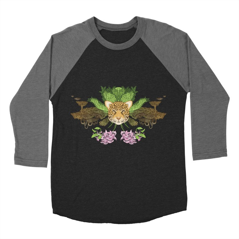 Jaguar flower Women's Baseball Triblend T-Shirt by zonka's Artist Shop
