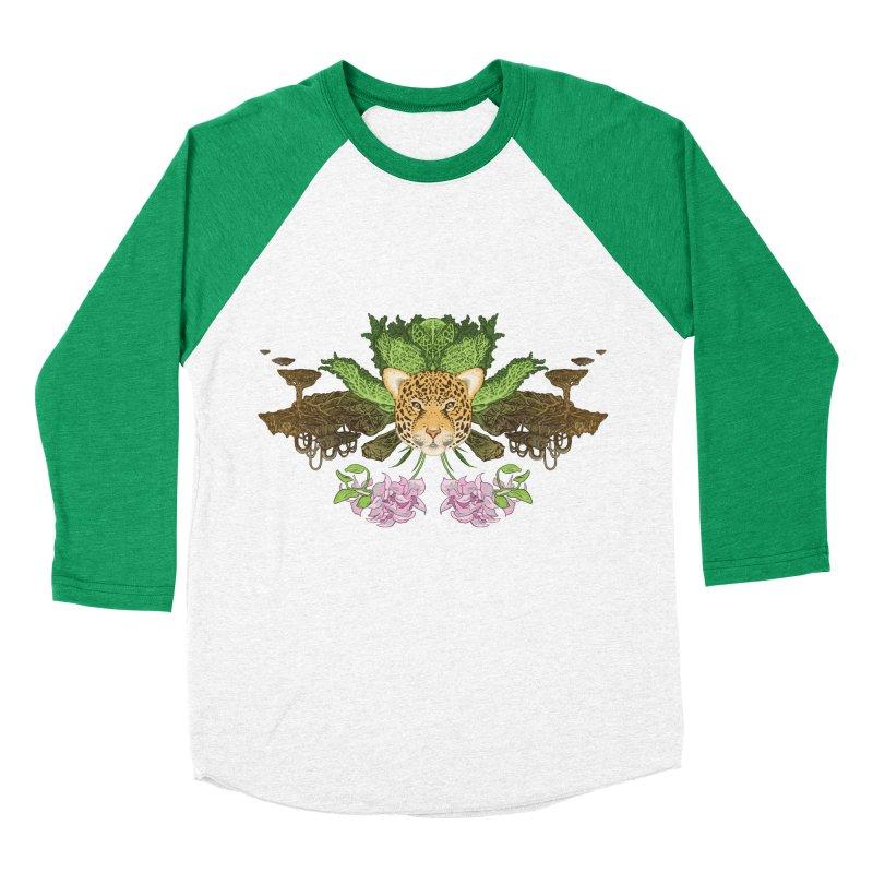 Jaguar flower Men's Baseball Triblend T-Shirt by zonka's Artist Shop