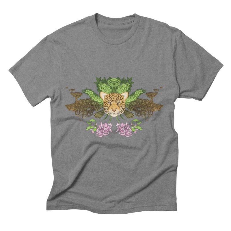Jaguar flower Men's Triblend T-shirt by zonka's Artist Shop