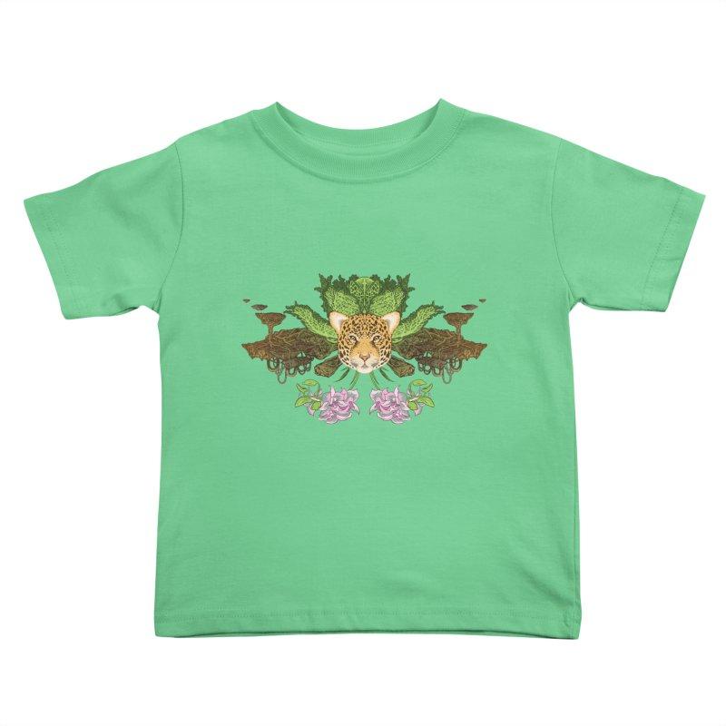 Jaguar flower Kids Toddler T-Shirt by zonka's Artist Shop