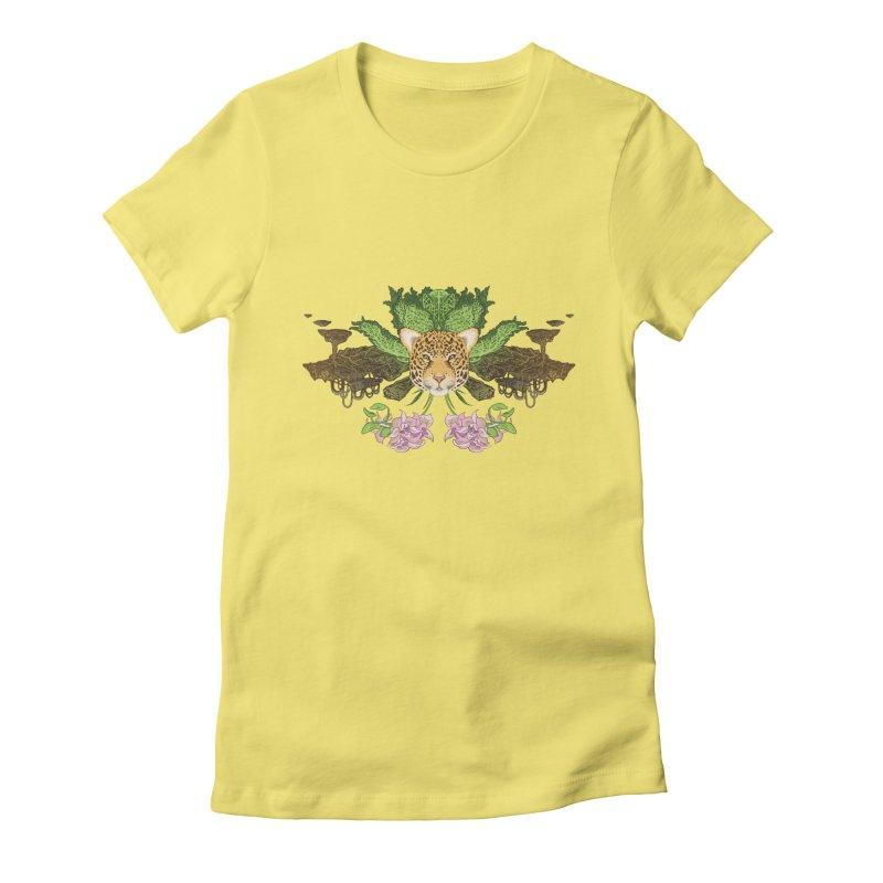 Jaguar flower Women's T-Shirt by Aaron Zonka's Artist Shop