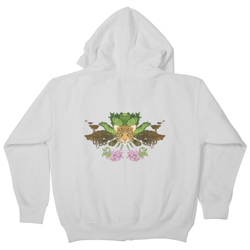 Jaguar flower Kids Zip-Up Hoody by zonka's Artist Shop