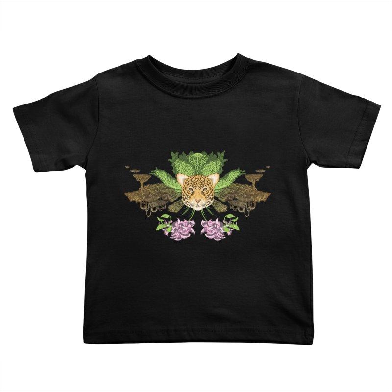 Jaguar flower Kids Toddler T-Shirt by Aaron Zonka's Artist Shop