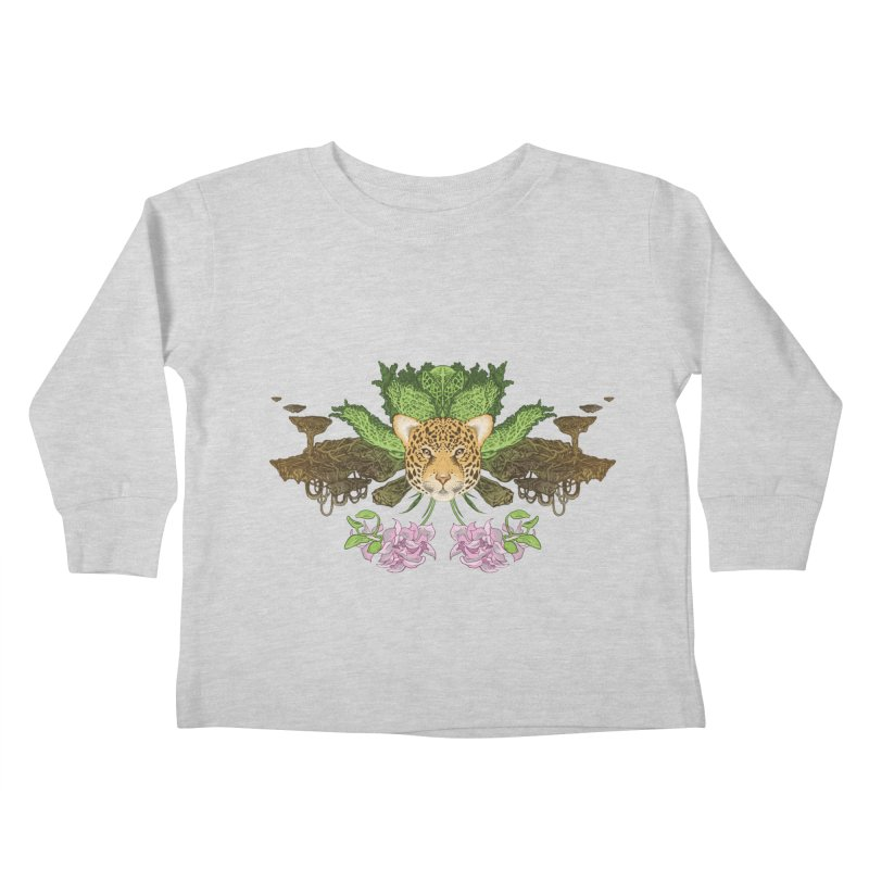Jaguar flower Kids Toddler Longsleeve T-Shirt by zonka's Artist Shop