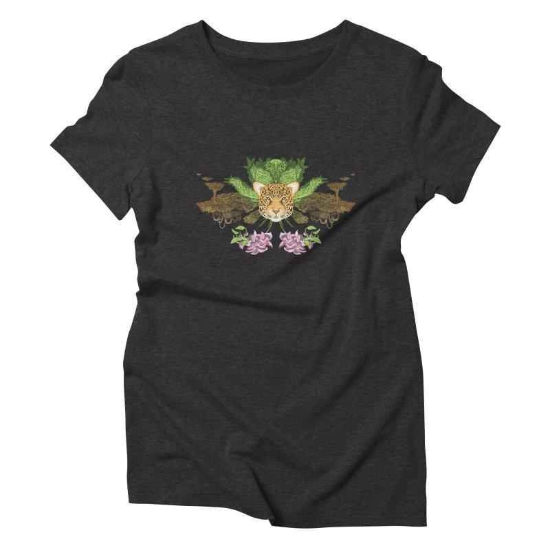 Jaguar flower Women's Triblend T-Shirt by zonka's Artist Shop