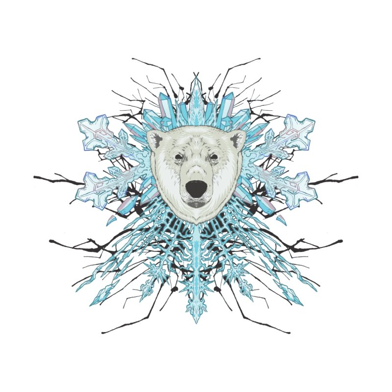 Polar bear snowflake Women's Zip-Up Hoody by Aaron Zonka's Artist Shop