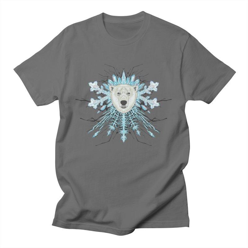 Polar bear snowflake Men's T-Shirt by Aaron Zonka's Artist Shop