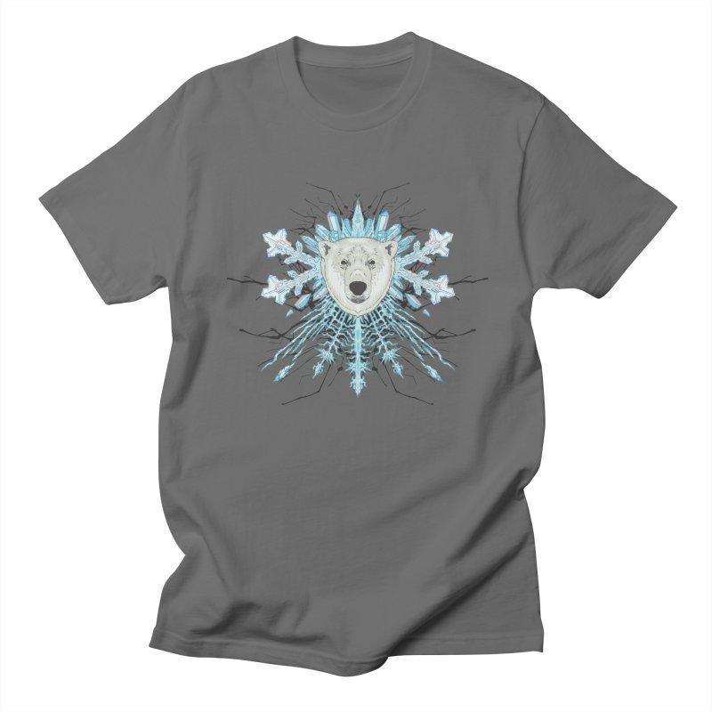 Polar bear snowflake Men's T-Shirt by zonka's Artist Shop