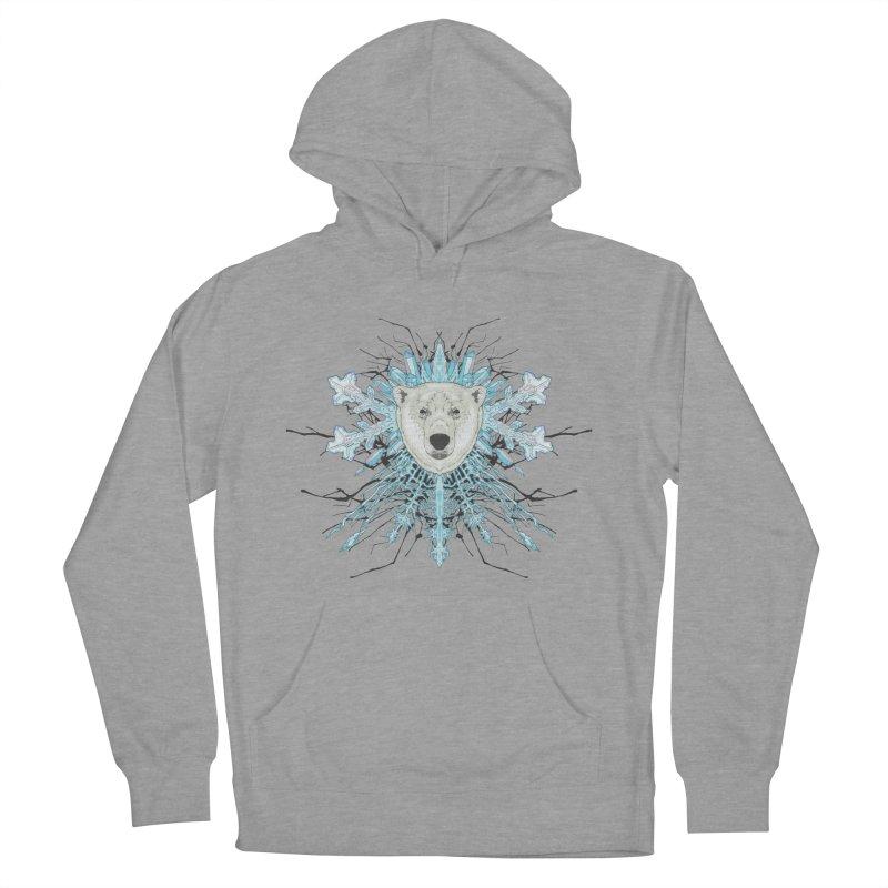 Polar bear snowflake Women's Pullover Hoody by zonka's Artist Shop
