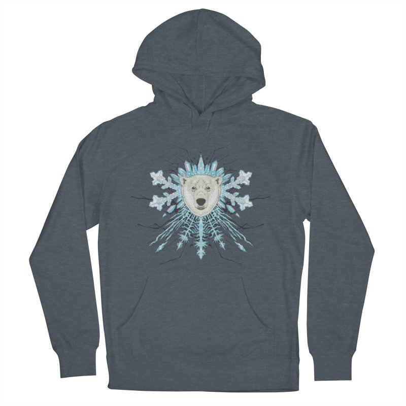 Polar bear snowflake Men's Pullover Hoody by zonka's Artist Shop